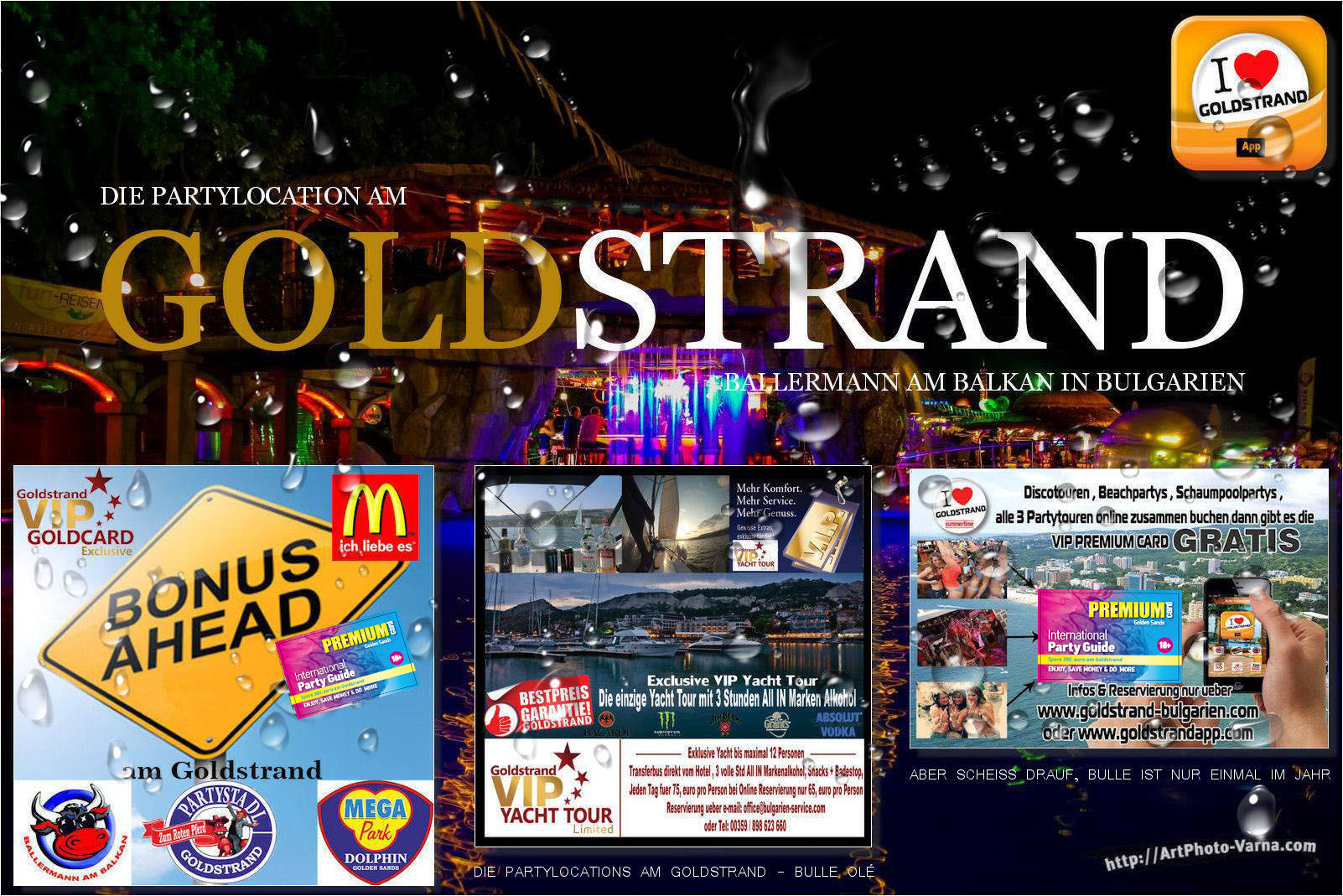 Goldstrand Party Infos
